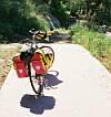 einde fietspad bij Lago Di Bracciano